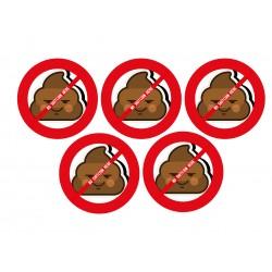 "5 stickers ""No shitcoin here"""
